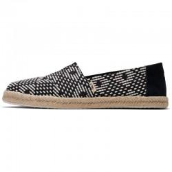 Toms - Black Geometric Diamond Espadrilles, vegane Schuhe