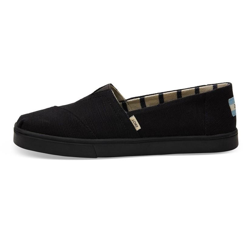 Vegane Schuhe von Toms - Black Cupsole Alpargata