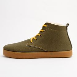 Grand Step Shoes - Adam Olive, gefüttert