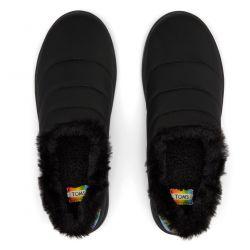 Toms - Black Matte Woven Rainbow