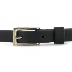 Vegetarien shoes - Skinny Belt black, veganer Gürtel