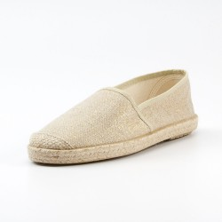 Grand Step Shoes - Evita Metallic Plain Taupe