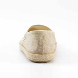 Veganer Espadrilles Evita Metallic Plain Taupe von Grand Step Shoes