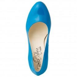 Vegane Pumps, Bella Storia - Dorothy Light Blue Patent Dekollete