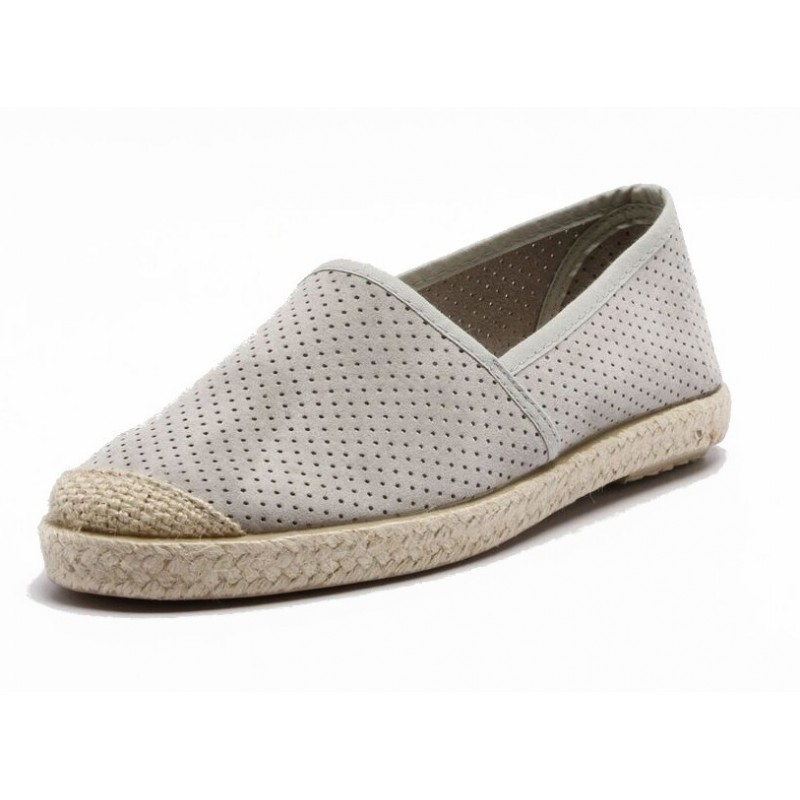 Grand Step Shoes - Evita Perforated Grey, vegane Schuhe