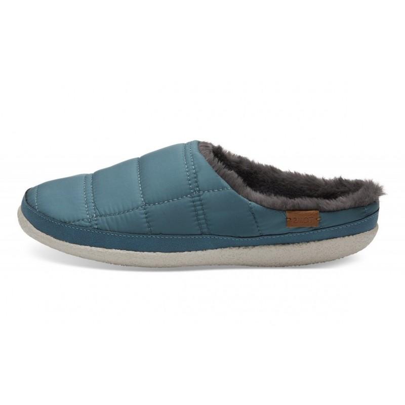 Toms - Stellar Blue Quilted Slipper, vegane Hausschuhe