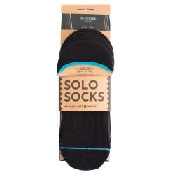 Vegane Socken von Solosocks - Blackies No-Shows