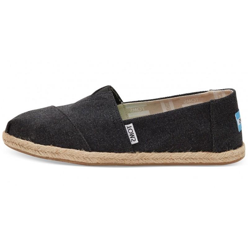 Vegane Schuhe von Toms - Black Washed Classics für Damen