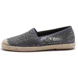 Vegane Schuhe von Grand Step Shoes - Evita Plain Met Snake Navy