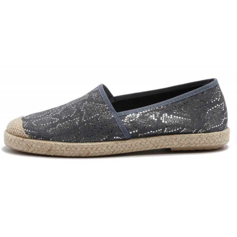 Grand Step Shoes - Evita Plain Met Snake Navy