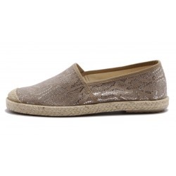 Grand Step Shoes - Evita Plain Met Snake Rose