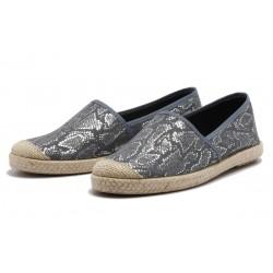 Vegane Schuhe von Grand Step Shoes - Evita Plain Met Snake Navy