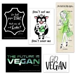 Kostenlose, vegane Aufkleber