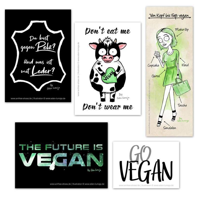 Kostenlose Vegane Aufkleber