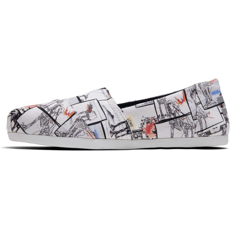 Vegane Schuhe von Toms - White StarWars Print Alpargata