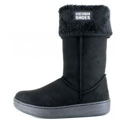 Vegetarian Shoes - Highly Snugge Boot Black, veganer Stiefel