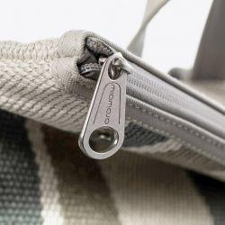 Miomojo - Essential Backpack Stripes Grey, vegane Fair-Trade Tasche