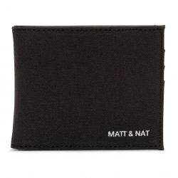 Matt & Nat - Rubben Canvas Black, veganes Portemonnaie