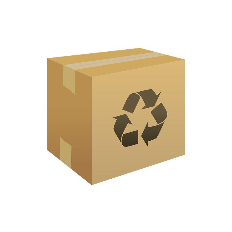 Von uns recycelter Karton