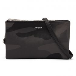 Matt & Nat - Triplet Crossbody Black, vegane Tasche