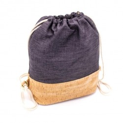 Natural Cork Bag Blue, vegane Tasche