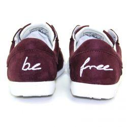 Be Free - veganer Sneaker Low-Cut Dark Bordo