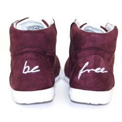 Be Free - veganer Sneaker High-Cut Bordo