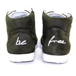 Be Free - veganer Sneaker High-Cut Khaki