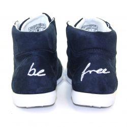 Be Free - veganer Sneaker High-Cut Navy